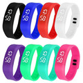 Womens Mens Rubber LED Watch Date Sports Bracelet Digital Wrist Watch #3470 Brand New High Quality Luxury Free Shipping