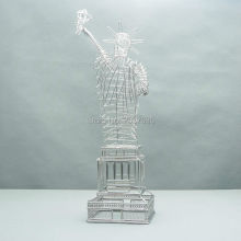 FREE SHIPMENT J11 STATUE OF LIBERTY SCULPTURE BUILDING STAINLESS HAND-MADE ART CRAFTS WEDDING&BIRTHDAY&HOME&OFFICE&GIFT&PRESENT