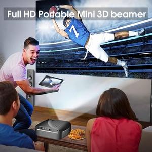 Image 5 - Tragbare F10 MINI Projektor 1920*720P Auflösung LED Projektor Für Home Cinema Unterstützung Full HD Tragbare 3D Beamer EU/Us stecker