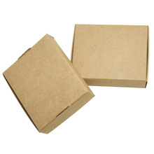 25Pcs 13*9.5*3cm kraft paper craft box small cardboard packing/package candy gift card photos packaging boxes