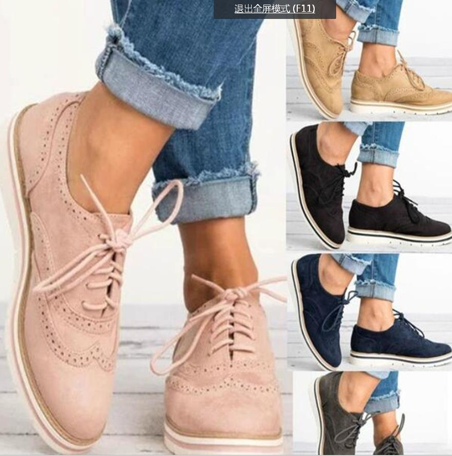 2018 New Rubber Brogue Shoes Woman Platform Oxfords British Style Creepers Cut-Outs Flat Casual Women Shoes 5 Colors for Girls цена