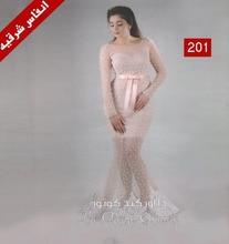 2017 Dubai Nahen Osten Nahen Osten Brautkleider Sheer Scoop Perlen Mermaid Sheer Long Sleeve Sehen-througth Abendgesellschaft kleider