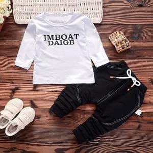 Image 3 - Spring Autumn Children Boys Girls Cotton Clothing Sets Baby Patchwork Hoodies T shirt Pants 3Pcs/Sets Fashion Toddler Tracksuits