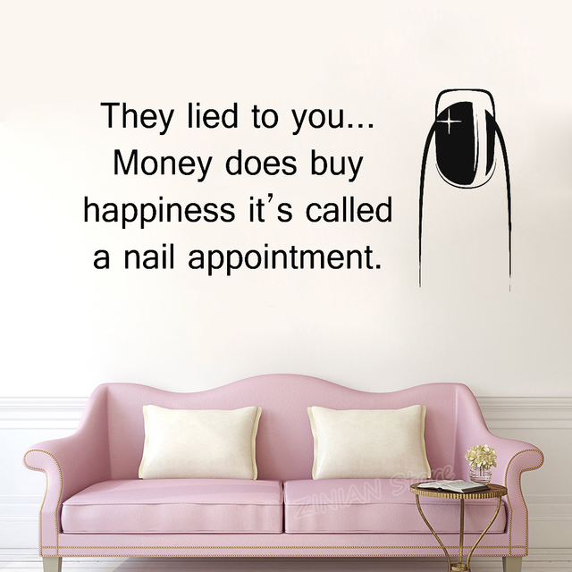 Beauty Quotes Vinyl Wall Stickers for Fashion Girls Bedroom Wall ...