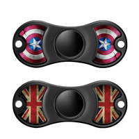 2017 New Cartoon EDC Fidget Spinner Hand Toys Metal Aluminum Captain America Finger Spinner Fidget Relieve