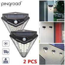2PCS Diamond LED Solar Light PIR Motion Sensor Solar Power Garden Lamp Outdoors Energy Saving Doorway Wireless Wall light YSL126