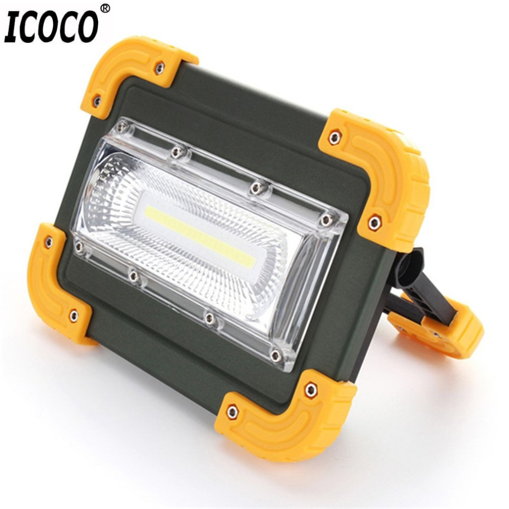 Icoco 30w Usb Led Portable Rechargeable Flood Light Spot Work Light High Brightness Camping Hiking Survival Hunting Outdoor Lamp Led Lighting