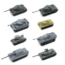 лучшая цена 1: 144 Kung Ching Tiger Panther 3 Main Battle Tank Sand Table Scene Military 4D Thumb-assembly Model