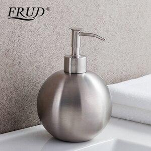 Image 1 - FRUD Single Stainless Steel Pumps Manually Soap Dispenser Bottle Of Hand Sanitizer Circular Device 500ml Bathroom HardwareY35012