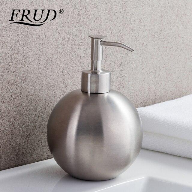 FRUD Single Stainless Steel Pumps Manually Soap Dispenser Bottle Of Hand Sanitizer Circular Device 500ml Bathroom HardwareY35012