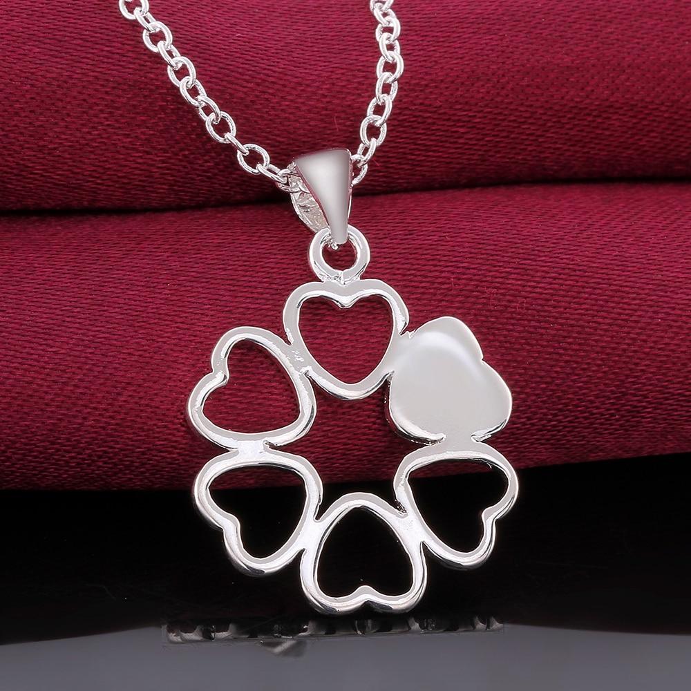 Мода стерлингового серебра 925 CZ ожерелья и кулоны мода ожерелье женщины подарок