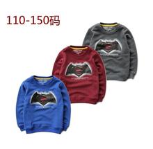 110-150 Children Sportswear Boys Animal printed Pure cotton terry round collar fleece Kids Baby top Primer shirt wholesale