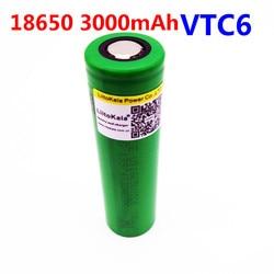 1pcs Liitokala VTC6 3.7V 18650 3000mAh rechargeable Li-ion battery Akku for Sony US18650VTC6 30A Toys flashlight tools