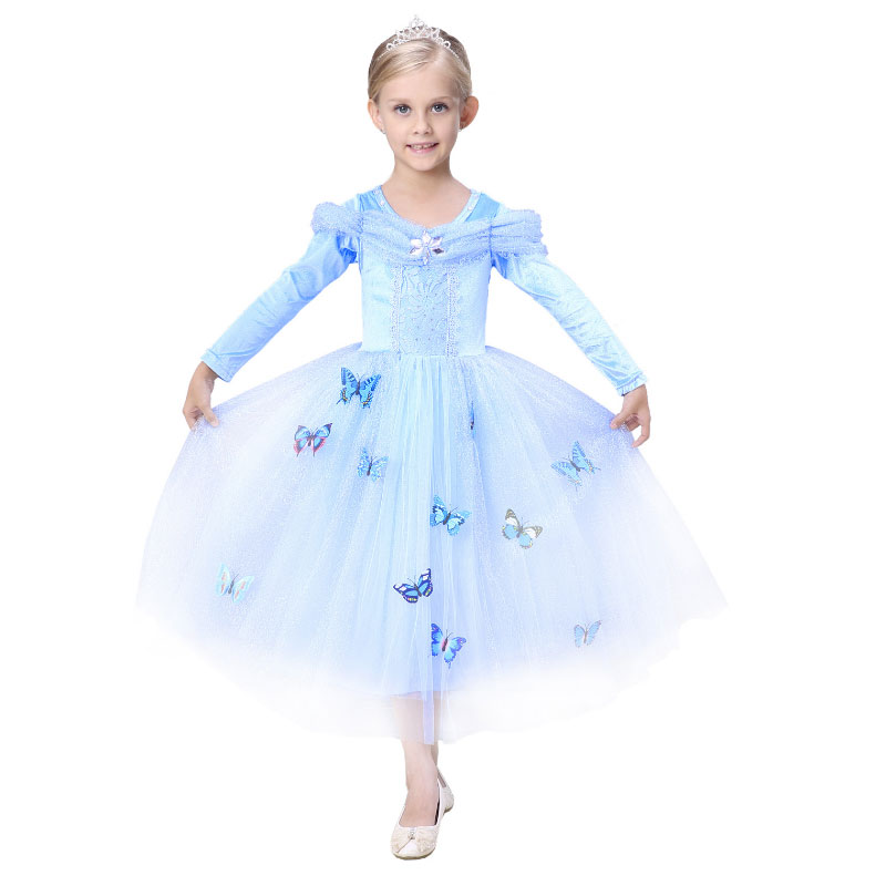 ̀ •́ Winter New Sofia Toddler Fancy Long Dresses Children Party ...