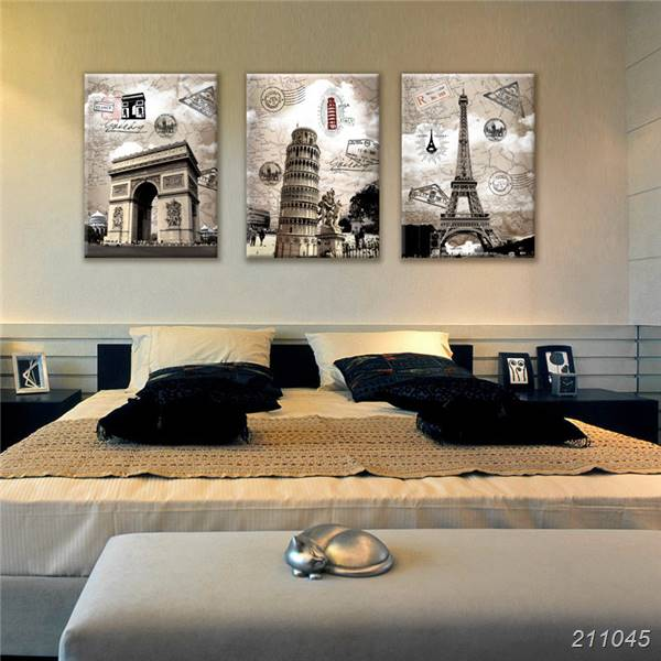 Panels Europe Decorative Picture On Wall Ital Paris Building Landscape Oil Painting On Canvas Prints Large Decoration Unframed In Painting Calligraphy
