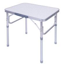 אלומיניום סגסוגת מתכוונן מתקפל חיצוני שולחן מעמד שולחן מגש עבור חיצוני גן קמפינג פיקניק שולחן