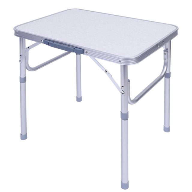 Aluminum Alloy Adjustable Folding Outdoor Table Desk Stand Tray for Outdoor Garden Camping Picnic Table