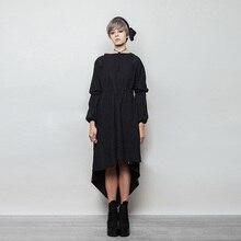 Punk 2017 Women's Designer Original New Winter Gothic Dress Handsome Cotton Loose Goth Dresses Women Punk Dress