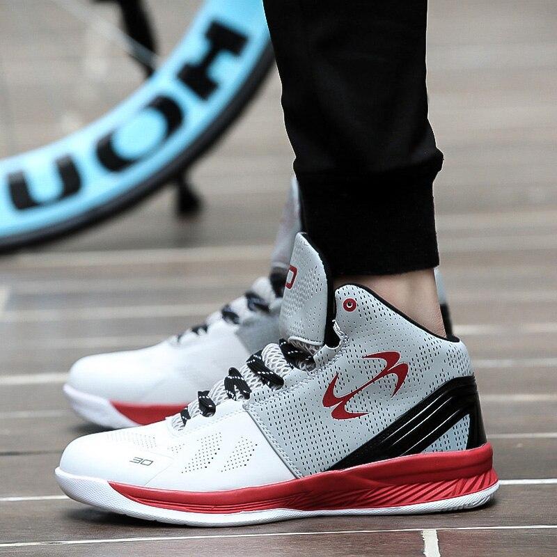 Homme Haute-top Jordan chaussures de basket Hommes Amortisseurs de Lumière de Basket-Ball Sneakers Anti-dérapage Respirant Sports de Plein Air Jordan Chaussures