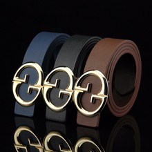 2016new duplo g belt elastic belt luxury dos homens laranja pione guchi dress designer of high quality women / men gg brand belt(China (Mainland))