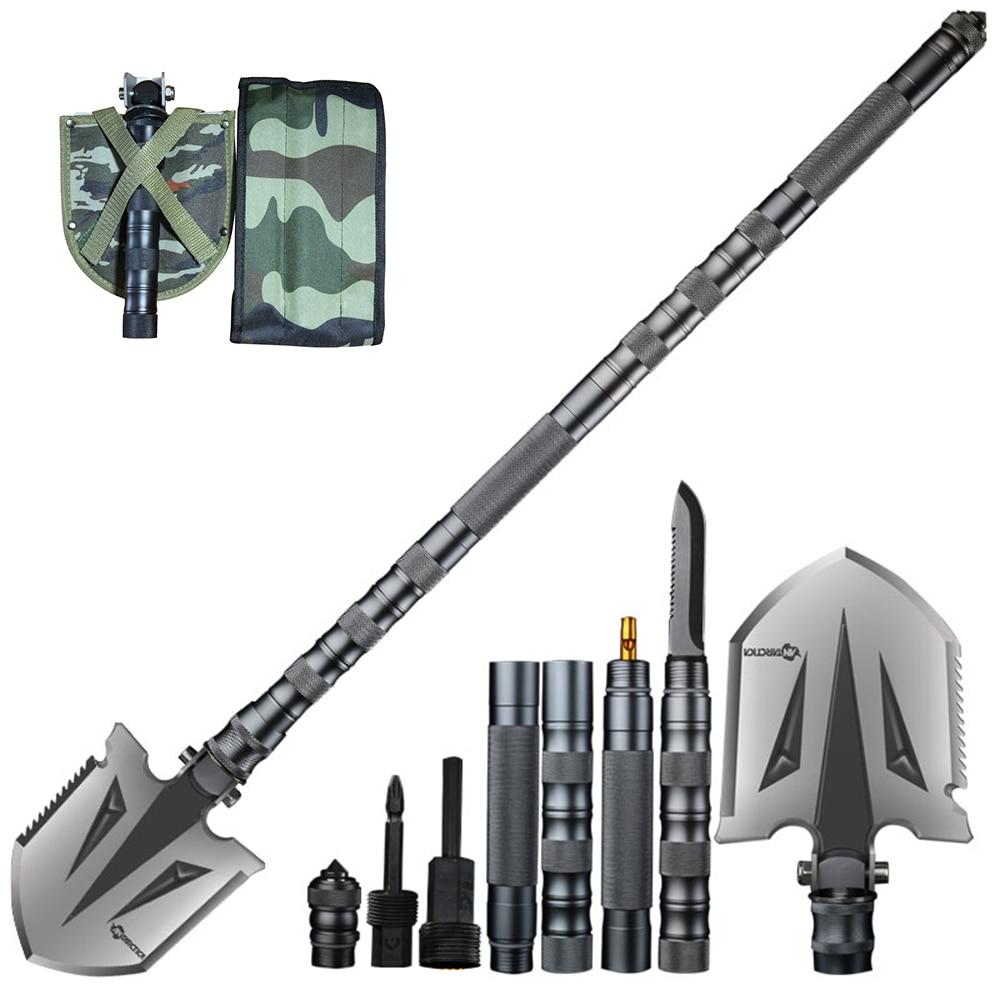 TIANYAN58 Camping Shovels Multifunctional Military Folding Shovel Outdoor Sports Survival Pocket Tools Aluminium Alloy Handle