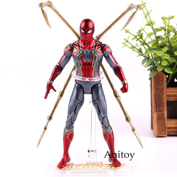 Marvel Legends Мстители Бесконечная война Железный Паук Фигурка Человека-паука ПВХ Человек-паук фигурка героя Коллекция Модель игрушки для мальч... >> Anime Fan Store