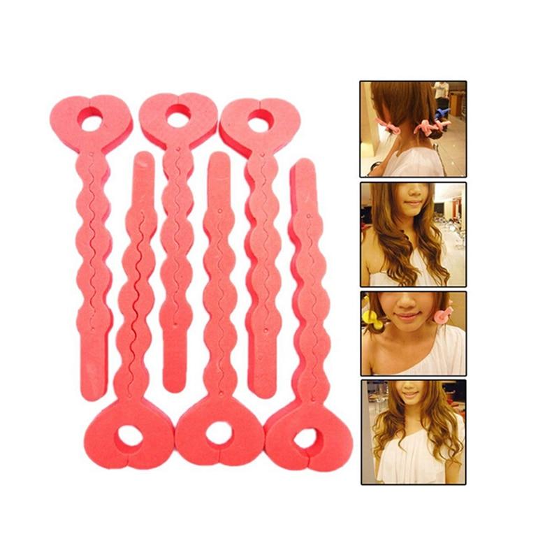 6 Pcs/lot Hot Selling Sponge Curler Hair Rollers Soft Foam Sponge Hair Curlers Tools Strip Salon Hair Style Tools
