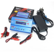 IMAX B6 80W 6A Charger Baterai Lipo NiMH Li-ion Ni CD Digital RC Balance Charger Discharger + 15 V 6A Power Adapter + Charge Kabel(China)