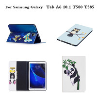 For Samsung Galaxy Tab A 10 1 A6 T580 T585C Painted PU Leather Protective Stand Case