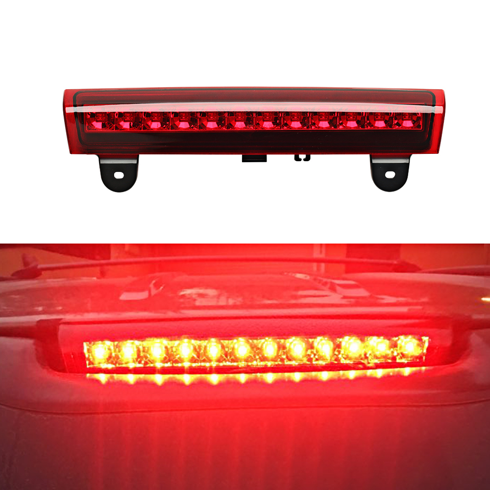 Third Brake Light Center High Mount Stop Light Lamp Replacement for Chevrolet/GMC/SUV Red/White/Smoked Lens transparent third brake light assembly chrome high mount brake stop warning lamp set for dodge ram 1500 2500 3500
