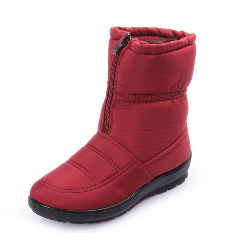 size 35-42 2019 women snow boots winter warm boots thick bottom platform waterproof ankle boots for women thick fur cotton shoes