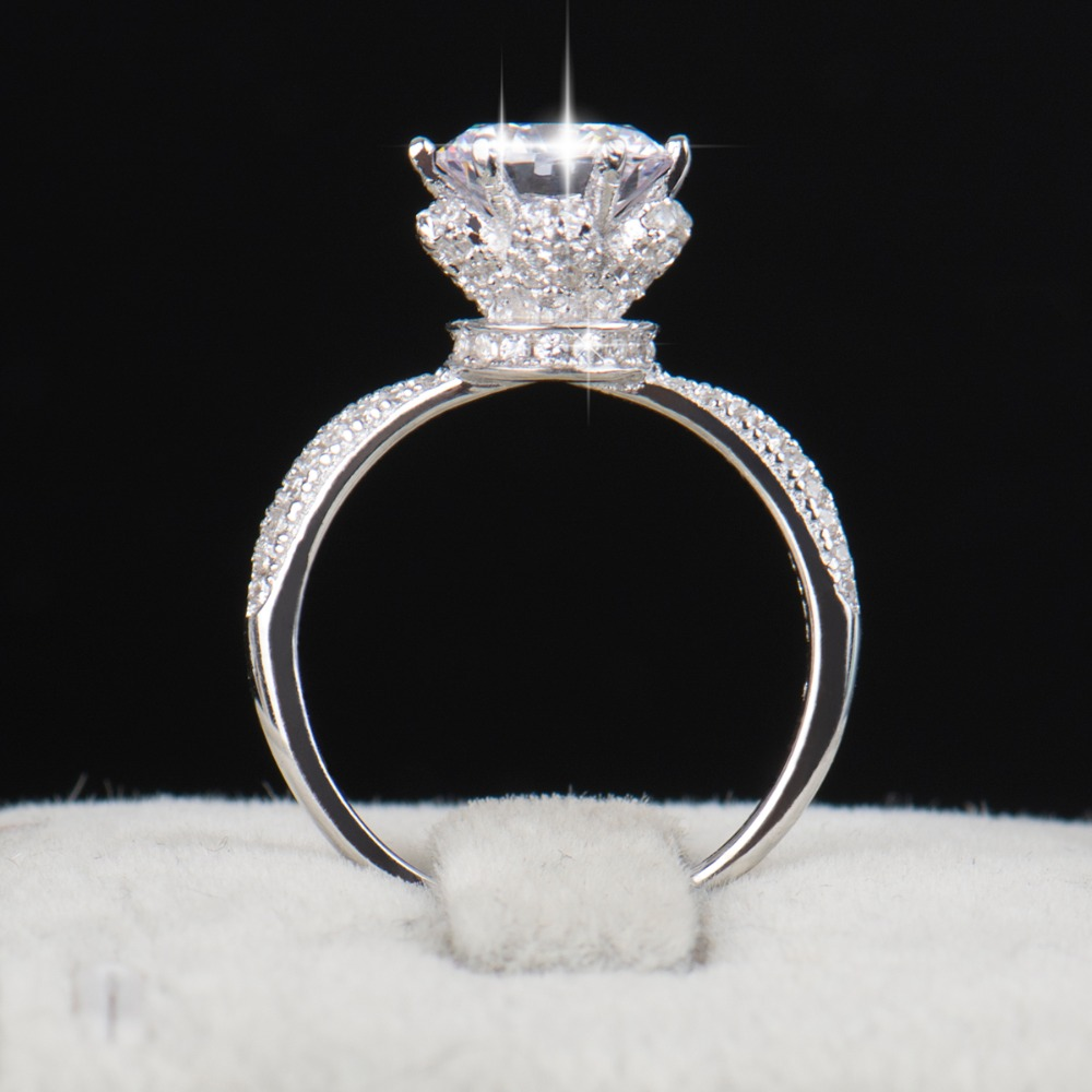 2016 New Fashion Classic Soild 925 Sterling silver wedding Ring CZ Ziron Jewelry party