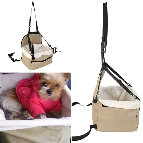 Soft Pet Dog Puppy Cat Kitty Car Seat Booster Seat Carrier Car Leash Bag