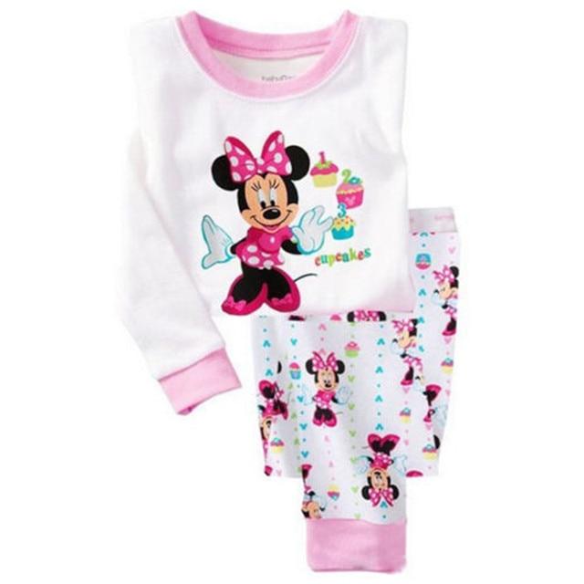 Children boys girls kids Clothing Sets Minnie Mouse suits 2 pcs sleepwear  long sleeve cartoon pajamas sets christmas pajamas af2fb4f1f