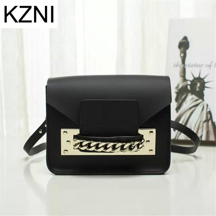 KZNI women genuine leather handbags  designers bags women crossbody bag bolsas femininas bolsas de marcas famosas L030863