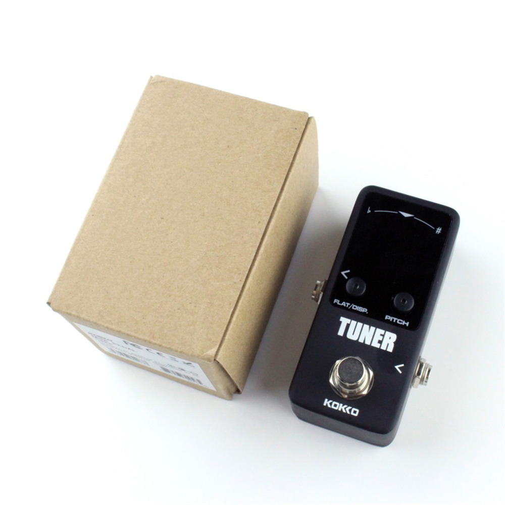 Mini Pedal Tuner Guitarra Guitar Bass Violin Ukelele Stringed Instruments Tuner Effect Device Dual Display New Hot handmade new solid maple wood brown acoustic violin violino 4 4 electric violin case bow included