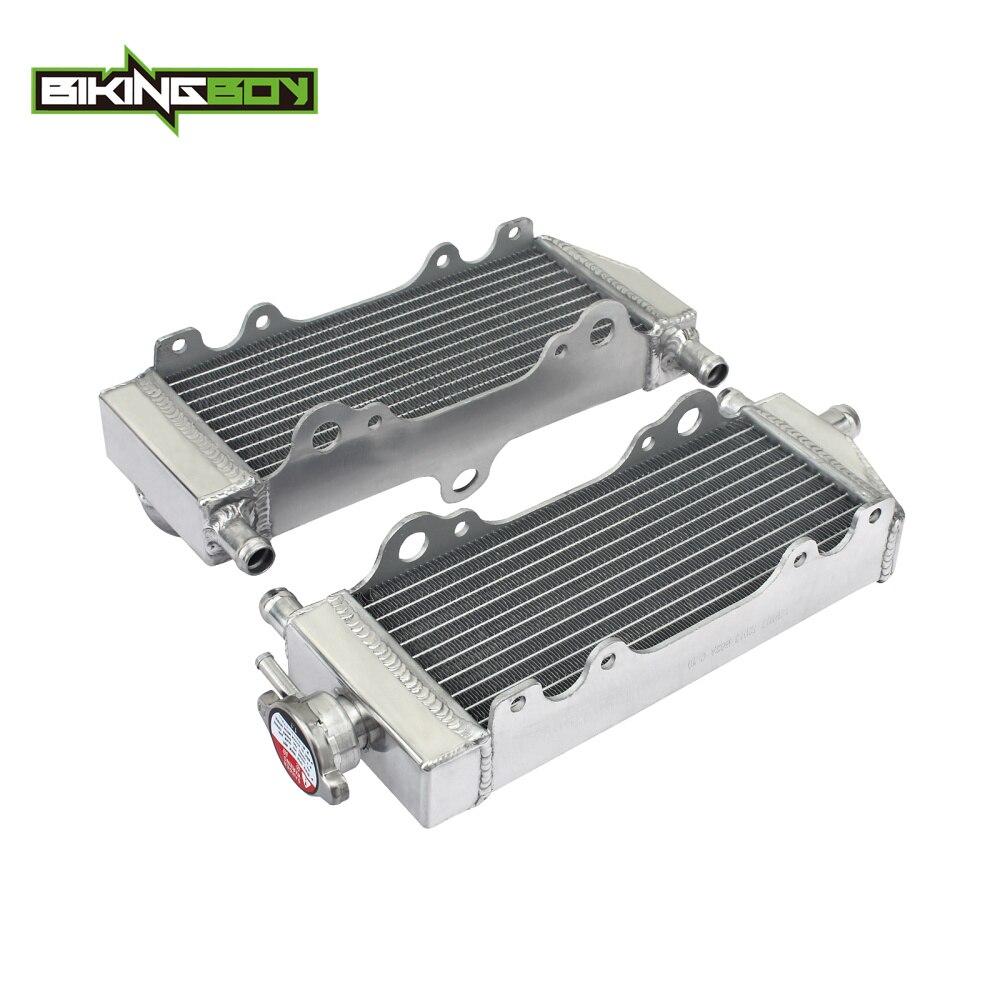BIKINGBOY 1 paire Aluminium cœurs MX tout-terrain Motocross refroidissement radiateurs pour YAMAHA YZ WR 250 YZ250 WR250 96-98 99 00 2001