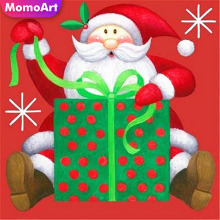 MomoArt 5D Diamond Painting Father Christmas Mosaic Full Square Rhinestone Embroidery Art