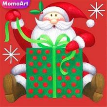 MomoArt 5D Diamond Painting Father Christmas Mosaic Full Square Rhinestone Embroidery Art