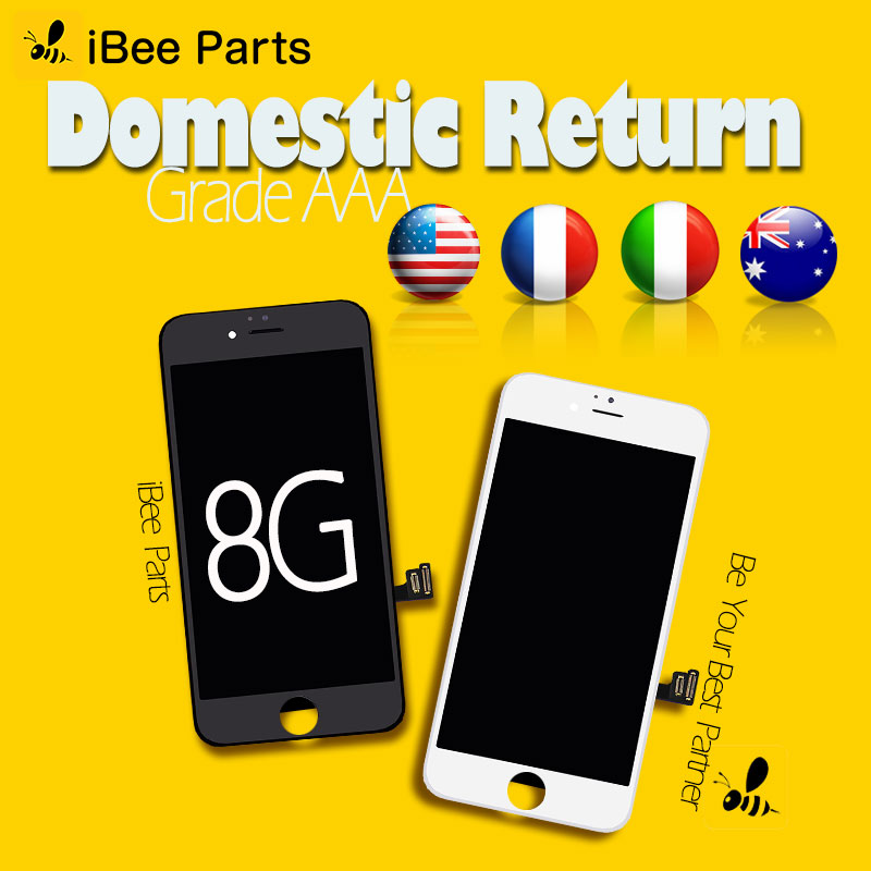 Ibee piezas 5 unids para Youda grado AAA pantalla Ecran para iPhone 8 LCD pantalla táctil digitalizador reemplazo de la Asamblea
