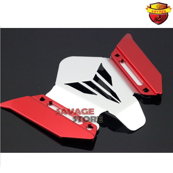 ФОТО Motorcycle CNC Aluminum Windscreen Windshield Mounting Bracket New For YAMAHA MT07 FZ07 MT-07 FZ-07 2014-2016 Red