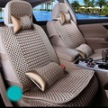 10pcs Seat Full Cover Universal Summer Cooling Car Cushion Ice silk Cooler with Back Pocket Design Suitable for Common Car