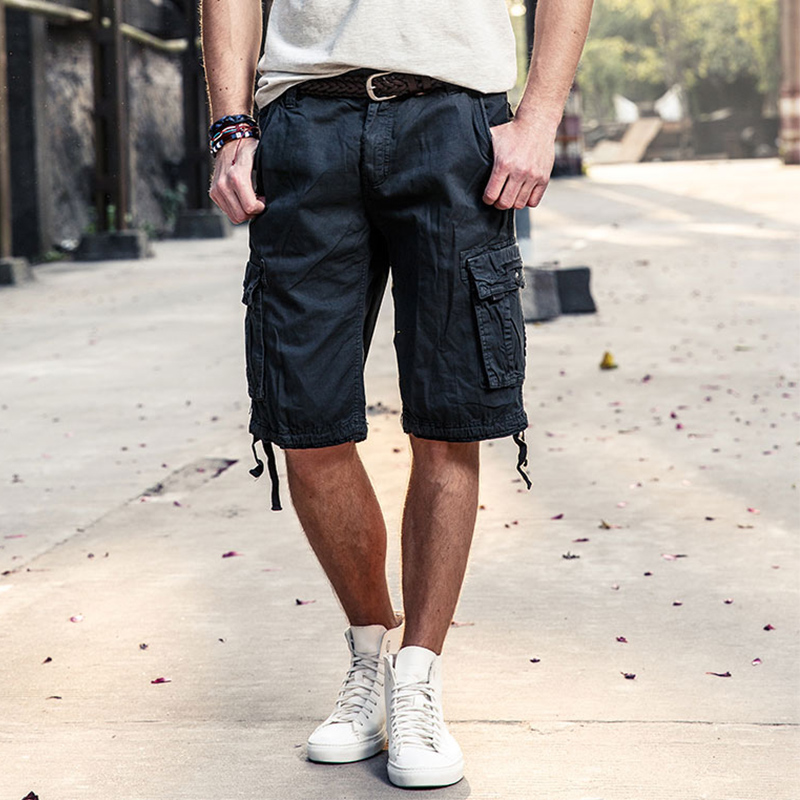 2017 cargo shorts men hot sale casual camouflage summer brand tapoo clothing cotton male fashion army