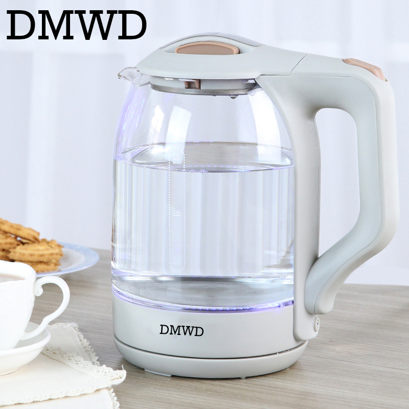 DMWD electric kettle teapot Quick Heating Hot water Boiling tea Pot Glass water heating Kettles Automatic power off boiler EU US automatic water electric kettle boiler boiling tea heater