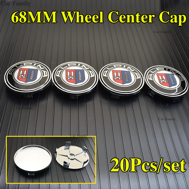 20pcs 68mm 2.68inch Carbon Car Wheel Center Logo emblem Badge PVC Auto Wheel Hub Caps For bmw Alpina X5 X6 1 2 3 4 5 6 7 series image