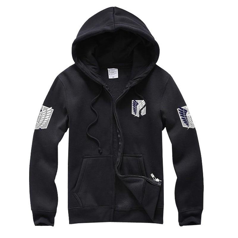 High quality Attack on Titan Shingeki no Kyojin Scouting Legion Cosplay Coat hoodie long sleeve jacket
