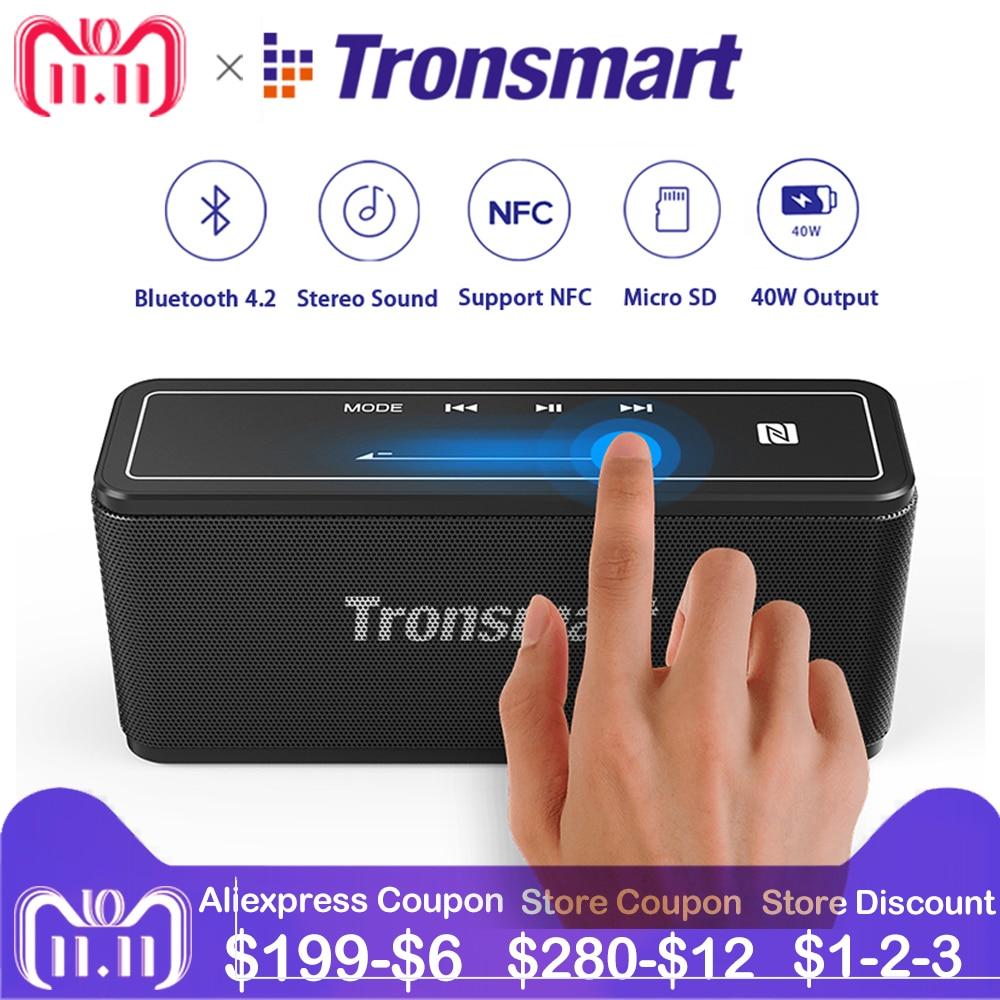 Tronsmart Mega Bluetooth Speaker Soundbar Portable 40W Stereo Music Wireless Speakers for MP3 Computer Home Theater Support NFC цена