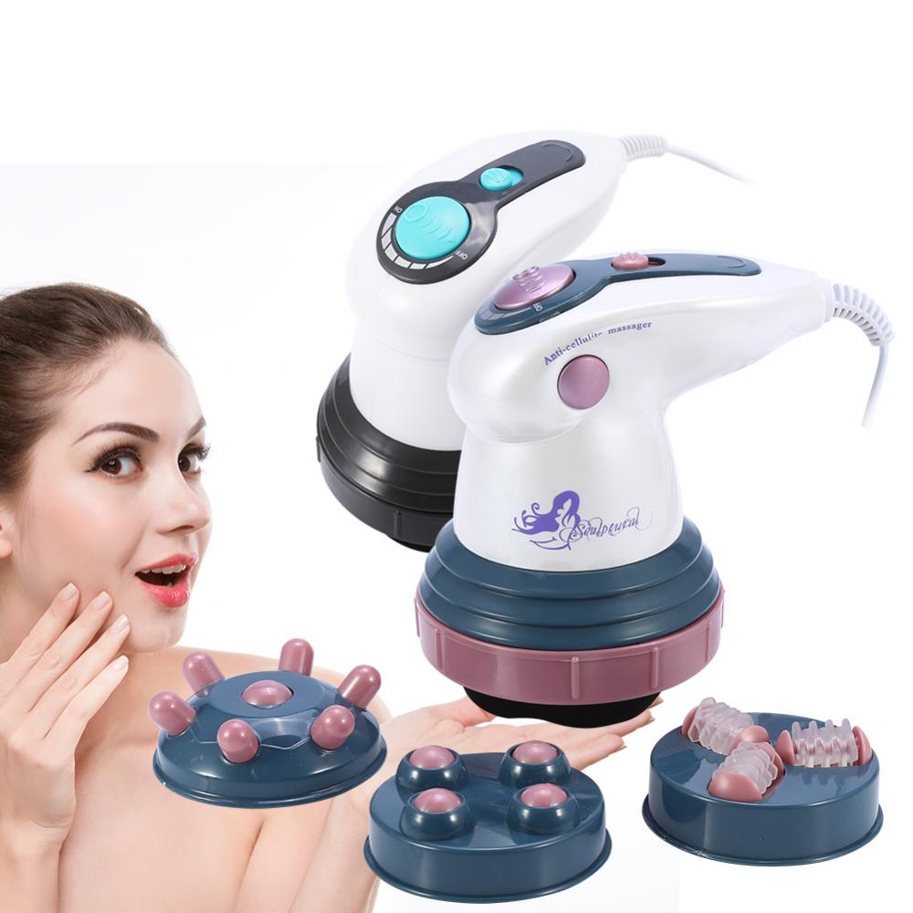 Body Slimming Massage Shaper Anti Cellulite Massager Infrared Vibration Therapy Body Roller Loss Weight Electric Fat Burner Tool-in Face Skin Care Tools from Beauty & Health
