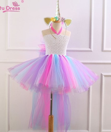 7a6fef549625 Princess Unicorn Tutu Dress For Toddlers Unicornio Halloween Costumes Rainbow  Dress Wedding Birthday Party Christmas Vestidos