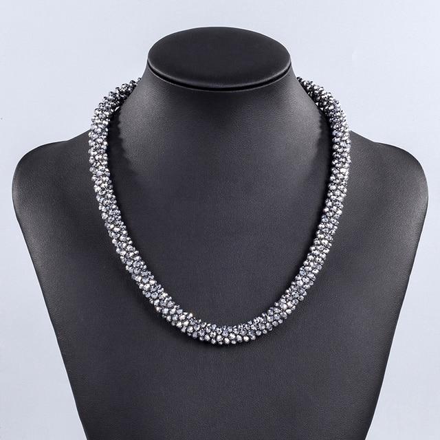 Женское Ожерелье с гранеными кристаллами inkdew короткое колье